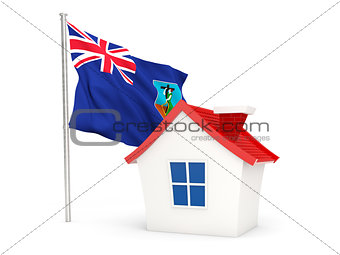 House with flag of montserrat
