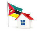 House with flag of mozambique