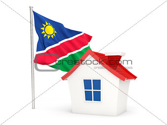 House with flag of namibia