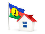 House with flag of new caledonia