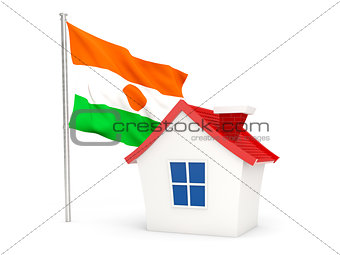 House with flag of niger
