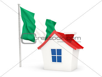 House with flag of nigeria
