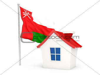 House with flag of oman