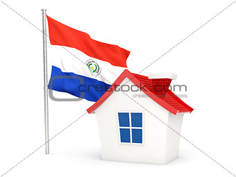 House with flag of paraguay