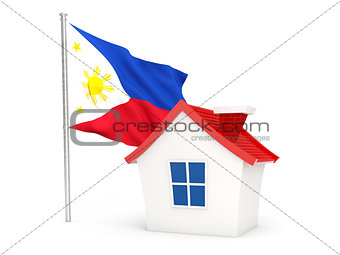 House with flag of philippines
