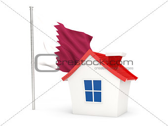 House with flag of qatar