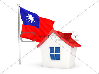 House with flag of republic of china