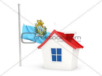House with flag of san marino