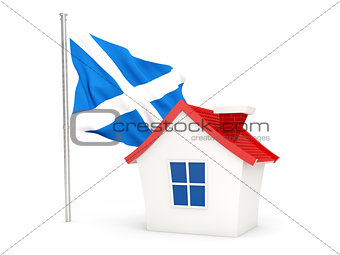 House with flag of scotland