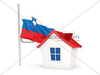 House with flag of slovenia