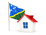 House with flag of solomon islands