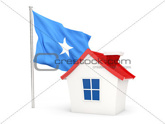 House with flag of somalia
