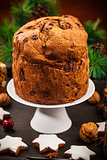 Chocolate panettone cake for Christmas