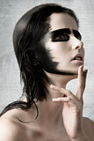 sensual girl with creative make-up