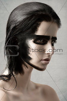 beauty woman with painted make-up