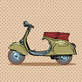 Vintage scooter retro transport