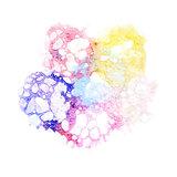 Watercolor varicolored bubbles