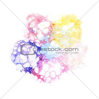 Watercolor varicolored bubbles