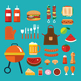 barbecue flat icon