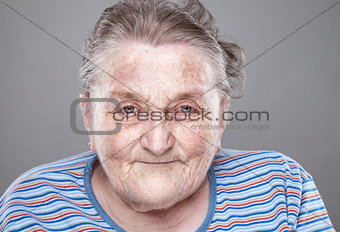 Portrait of an elderly woman