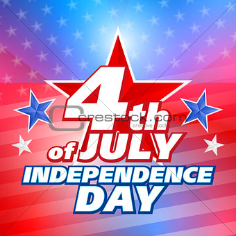 American 4th of July, vector background