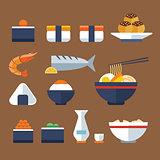 japan food flat icon
