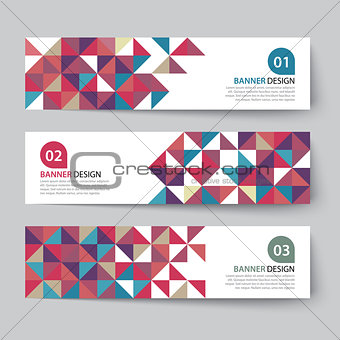 abstract triangle banner flat design