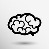 Brain icon mind vector medical brainstorm head human