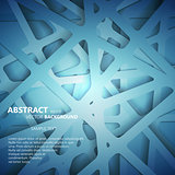 Abstract 3D Paper Graphics. Vector illustration for your business presentations.
