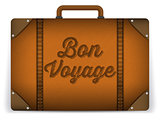 Brown Luggage Bag Illustration