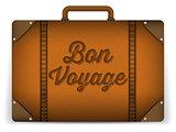 Brown Luggage Bag Illustration