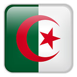 Algeria Flag Smartphone Application Square Buttons