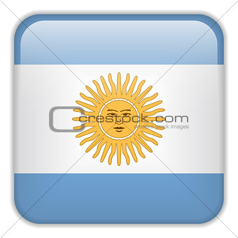 Argentina Flag Smartphone Application Square Buttons