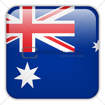 Australia Flag Smartphone Application Square Buttons