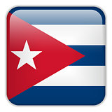 Cuba Flag Smartphone Application Square Buttons