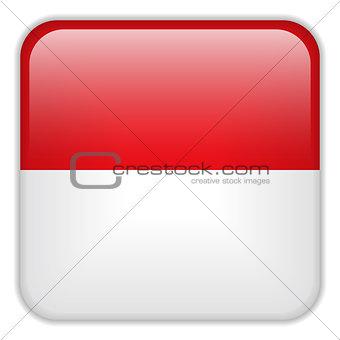 Monaco Flag Smartphone Application Square Buttons