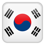 South Korea Flag Smartphone Application Square Buttons