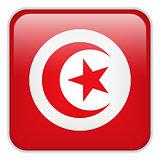 Tunisia Flag Smartphone Application Square Buttons
