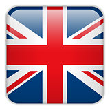 United Kingdom England Flag Smartphone Application Square Button