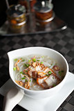 Thai Noodle Soup with Crispy Pork