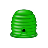Bee house in green design