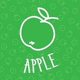 Handdraw apple Seamless background