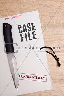 Folder with confidential files