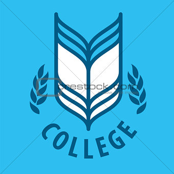 Abstract vector logo Book for College