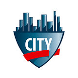 Abstract vector logo city protected