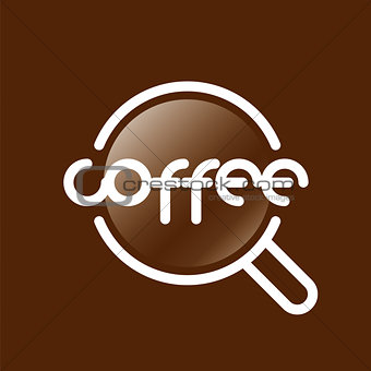 Abstract vector logo coffee cup