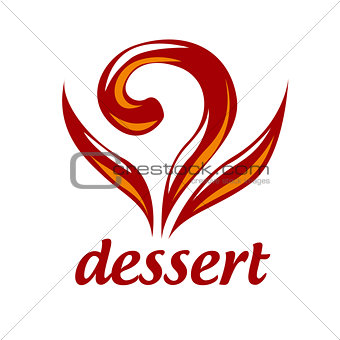 Abstract vector logo dessert and pastries