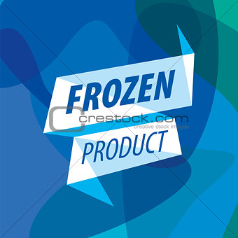 Abstract vector logo for frozen foods in the form of a tape