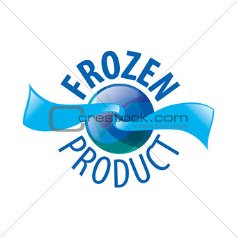 Abstract vector logo for frozen products