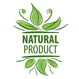 Abstract vector logo for natural product